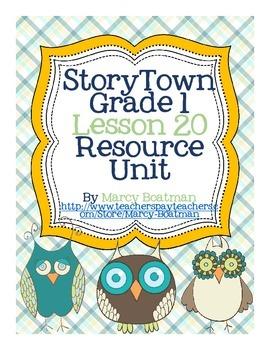 StoryTown Grade 1 Lesson 20 Resource Unit