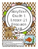StoryTown Grade 1 Lesson 21 Resource Unit