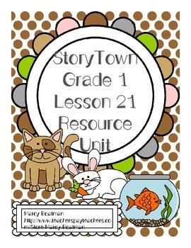 StoryTown Grade 1 Lesson 21 Resource Unit