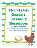 StoryTown Grade 1 Lesson 7 Resource Unit