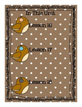 StoryTown Grade 1 Lessons 16-18 Bundled Resource Unit