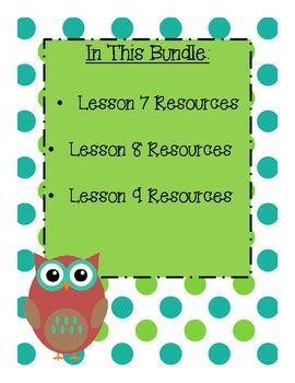 StoryTown Grade 1 Lessons 7-9 Bundled Resource Unit