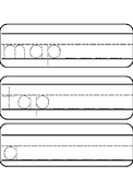 StoryTown Grade 1 Trace and Wipe Lesson 1