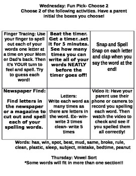 StoryTown Grade 2 Lesson 5 Review week spelling homework packet