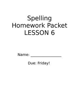 StoryTown Grade 2 Lesson 6 Spelling Practice Activities