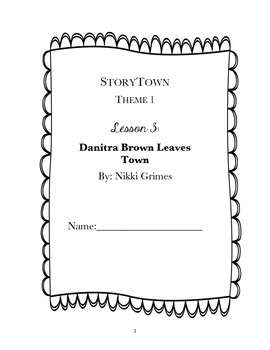StoryTown, Grade 4, Lesson 3: Danitra Brown Leaves Town