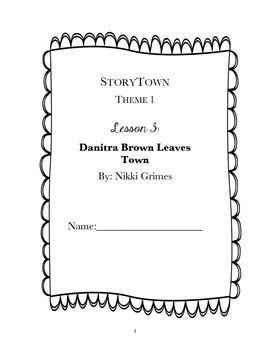 StoryTown, Grade 4, Lesson 3: Danitra Brown Leaves Town