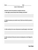 StoryTown, Grade 5, Lesson 1 Reading Comprehension Worksheet #2