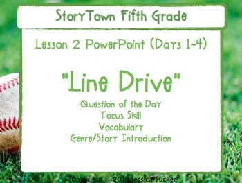 "Storytown Grade 5 Lesson 2 ""Line Drive"" Weekly PowerPoint"