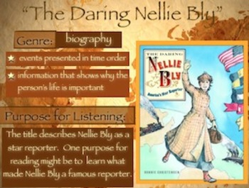 """Storytown Grade 5 Lesson 4 """"The Daring Nellie Bly"""" Weekly PowerPoint"""