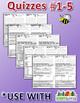 StoryTown Grade 5 – Unique, Editable Spelling Quizzes w/ Answers – Lessons #1-5
