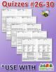 StoryTown Grade 5 – Unique, Editable Spelling Quizzes w/Answers – Lessons #26-30