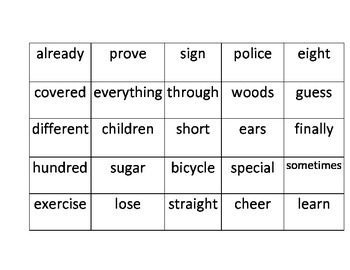 StoryTown High Frequency Words 2nd grade