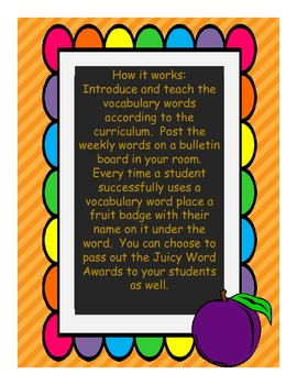 StoryTown Juicy Word Vocabulary Kit Grade 1