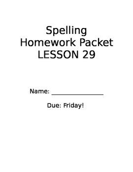 StoryTown Lesson 29 Grade 2 Spelling Homework ey ea eigh words