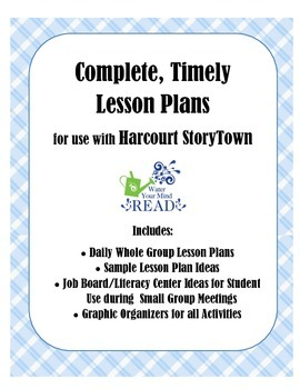 StoryTown Reading Lesson Plan Templates - Whole & Small Group, Literacy Centers