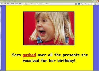 StoryTown Robust Vocabulary Lesson One