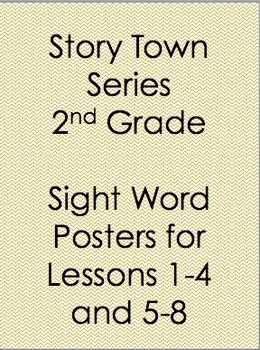 StoryTown Sight Word Posters 2nd grade