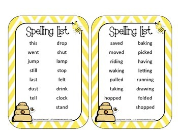 StoryTown Spelling Journal Cards for 3rd Grade