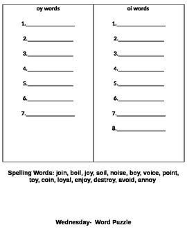StoryTown Spelling Lesson 18 Grade 2