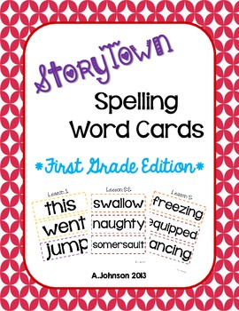 StoryTown Spelling Word Cards {1ST GRADE}