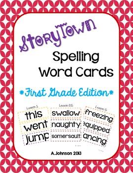 StoryTown Spelling Word Cards {1ST GRADE}