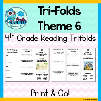 StoryTown Theme 6 - Trifolds (4th Grade)