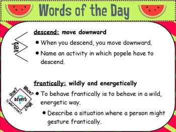 StoryTown Vocabulary: Fourth Grade Word of the Day Unit 6