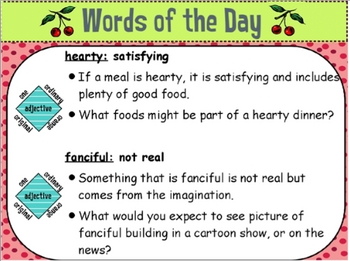 StoryTown Vocabulary: Fourth Grade Word of the Day Unit 6.ppt