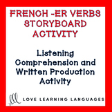 French Regular ER Verbs - Storyboard Listening Comprehensi