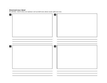 Storyboard / Cartoon graphic organizer