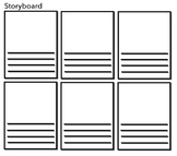 Storyboard: Great way to retell a story, plan a film, etc