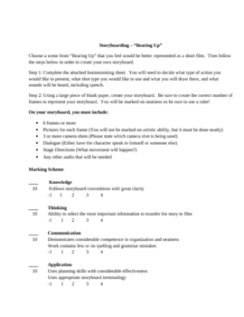 Storyboard Guidelines and Assignment