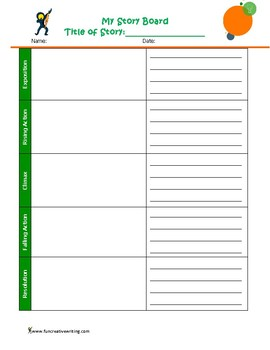 Storyboard Organizer (Inspire more writing and teach elements of plot.)