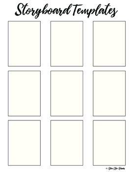 Storyboard Picture Writing Templates