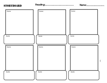 Storyboard template by our words at work teachers pay for Film storyboard template word