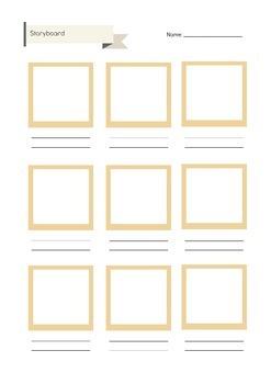 Storyboard Template Handout