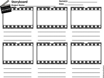 Storyboard Templates - 3 Levels of Storyboards for Differentiation