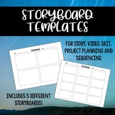 Storyboard Templates For Story, Video, Skit, Project Plann