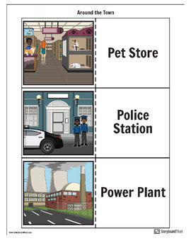 """Storyboard That - Teaching ESL/ELL - """"Around the Town"""" Packet"""