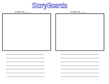Storyboard Writing sheet