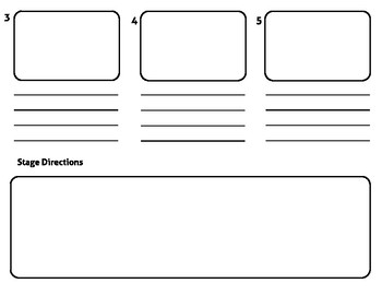 Storyboard for Planning Videos, Narratives etc. on iPad or Video Creation Tool