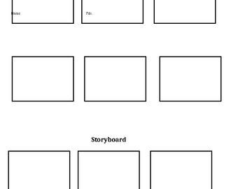Storyboard for Summarizing Plot