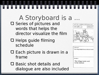 Storyboard lesson