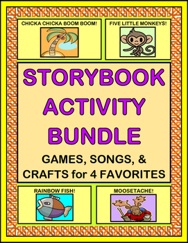 """Storybook Activity Bundle"" -- Group Games, Songs, and Crafts for Four Favorites"