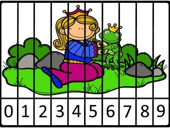 Storybook Character Number and Counting Puzzles for Numbers 0 - 9