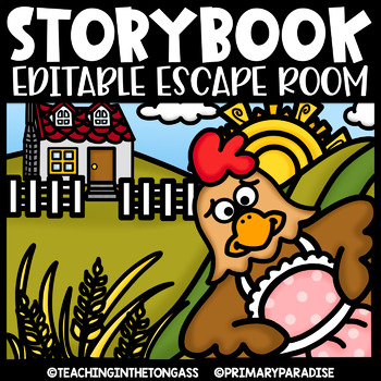Storybook Escape Room EDITABLE  | Little Red Hen