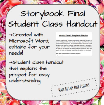 Storybook Floral Final Student Handout