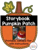 Storybook Pumpkin Patch flier (updated for 2016)