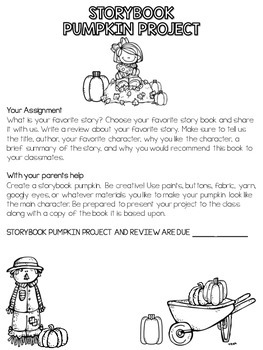Storybook Pumpkin Project